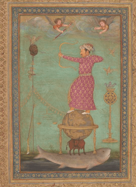 Jahangir Shooting the Head of Malik Ambar